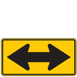 Double Arrow Symbol Warning Signs