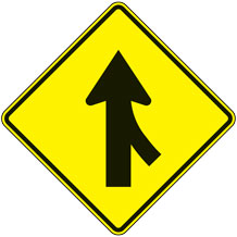 Merge Right (Symbol) Warning Signs