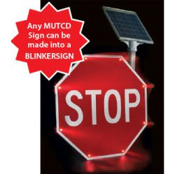 Enhanced Conspicuity: Blinker Signs
