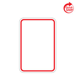 Red Border Blanks with White Reflective Sheeting