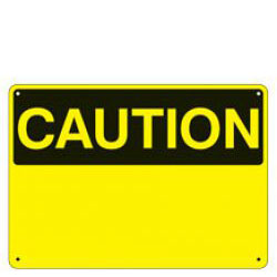"14"" x 10"" OSHA Caution Header with choice of Standard Legend"