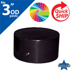 "Semi Gloss Powder Painted Closure Cap for 3"" OD Round Post"