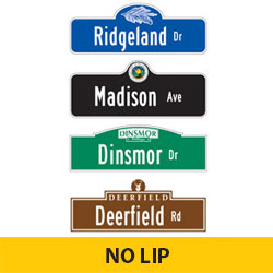 Custom Street Name Finished Signs | No Lip