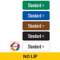 Standard Street Name Finished Signs | No Lip