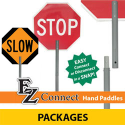 EZ Connect STOP/SLOW Hand Paddle Packages