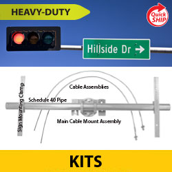 "Heavy Duty ""Mast o Brackets"" Kits for Overhead Mast Arms"