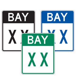 Bay Number Sign