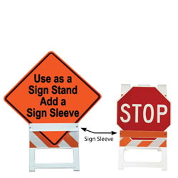 Sign Sleeves for Plasticade Type I and II Folding Barricades