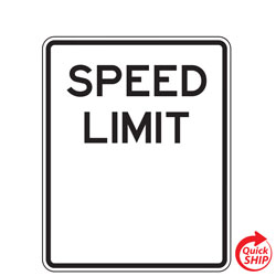 Partially Finished Speed Limit Sign