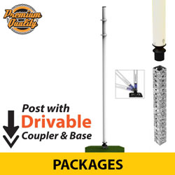 Sta Rite Flexible Sign Posts with Coupler and Drivable Base