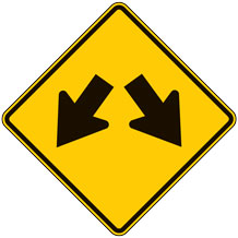 Double Arrow Warning Signs