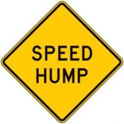 Speed Hump Warning Signs