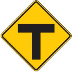 T Intersection Symbol Warning Signs