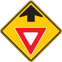 Yield Ahead (Symbol) Warning Signs