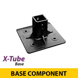 "Surface Mount Base for 1.75"" X Tube Flexible Sign Posts"