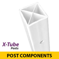 X Tube Flexible Sign Posts
